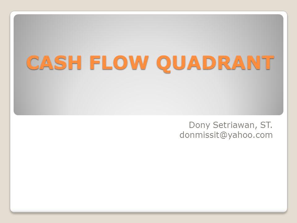 CASH FLOW QUADRANT Dony Setriawan, ST. donmissit@yahoo.com
