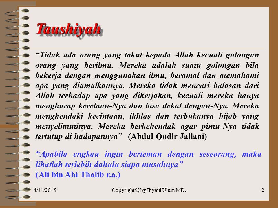 4/11/2015Copyright@ by Ihyaul Ulum MD.1 Chapter 09 PENGUKURAN KINERJA SEKTOR PUBLIK Program Studi Akuntansi Fakultas Ekonomi Universitas Muhammadiyah