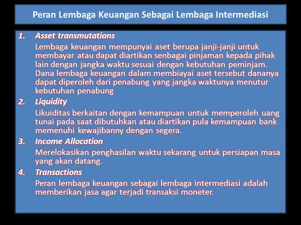 Peran Lembaga Keuangan Sebagai Lembaga Intermediasi