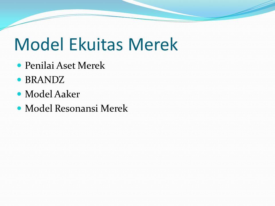 Model Ekuitas Merek Penilai Aset Merek BRANDZ Model Aaker Model Resonansi Merek