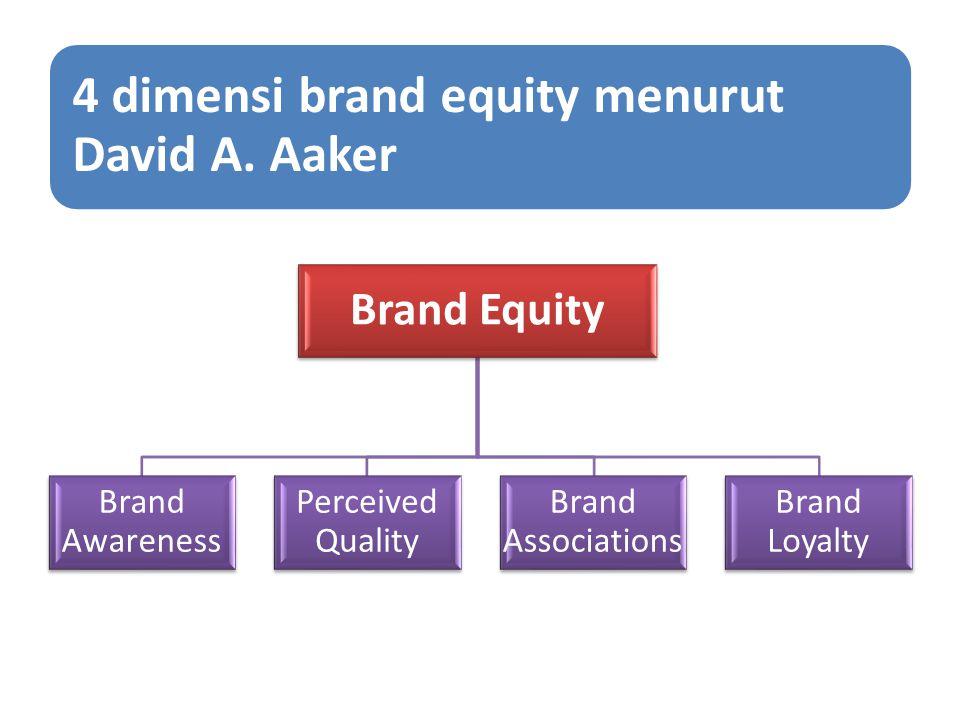 Brand Awareness: Merupakan kemampuan konsumen untuk mengenali atau mengingat bahwa sebuah merek merupakan anggota dari kategori produk tertentu Perceived Quality Merupakan penilaian konsumen terhadap keunggulan atau superioritas produk secara keseluruhan.