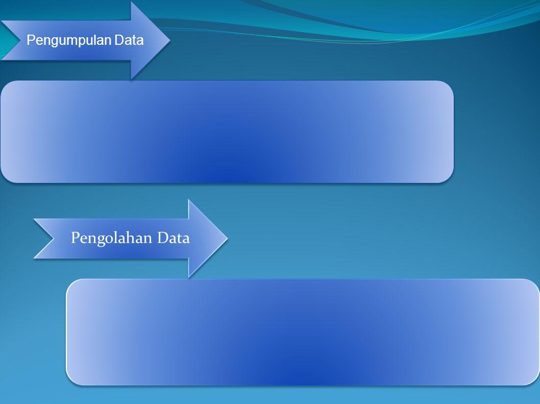 Pengumpulan Data Pengolahan Data