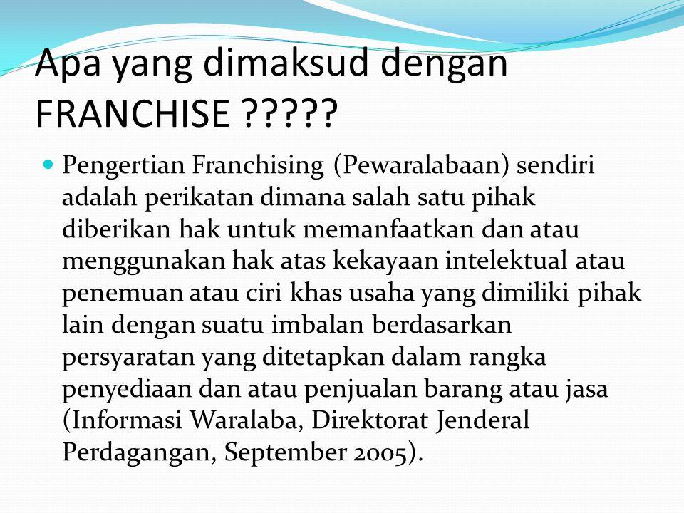 Apa yang dimaksud dengan FRANCHISE ????.