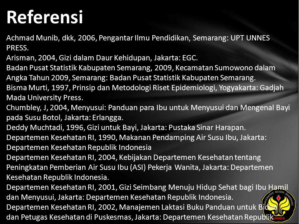 Referensi Achmad Munib, dkk, 2006, Pengantar Ilmu Pendidikan, Semarang: UPT UNNES PRESS.
