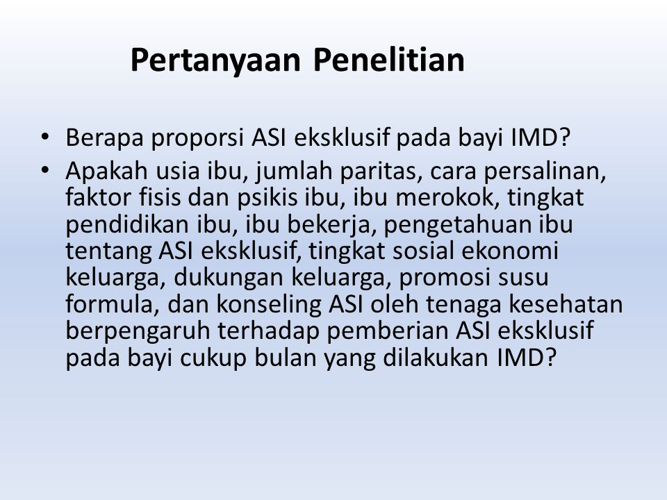 Saran Perlu dilakukan penelitian berbasis rumah sakit yang lebih heterogen sehingga dapat digunakan sebagai acuan penilaian populasi anak Indonesia.