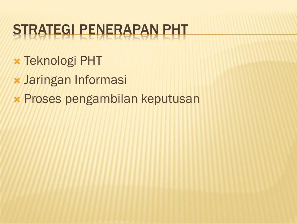  Teknologi PHT  Jaringan Informasi  Proses pengambilan keputusan