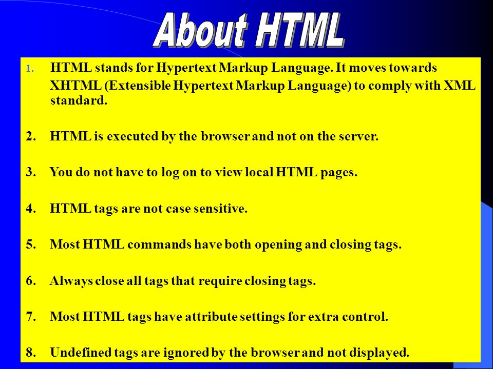8 Welcome to HTML Welcome to the world of HTML! burhan_amin@yahoo.com