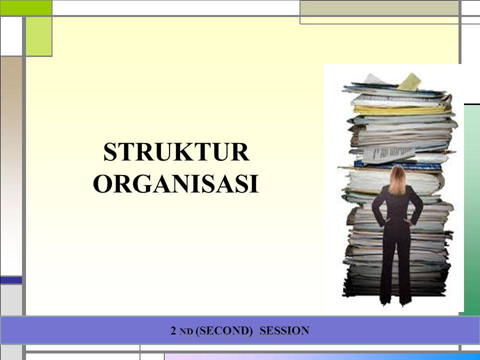 STRUKTUR ORGANISASI 2 ND (SECOND) SESSION Presented by Gartinia Nurcholis, M.Psi