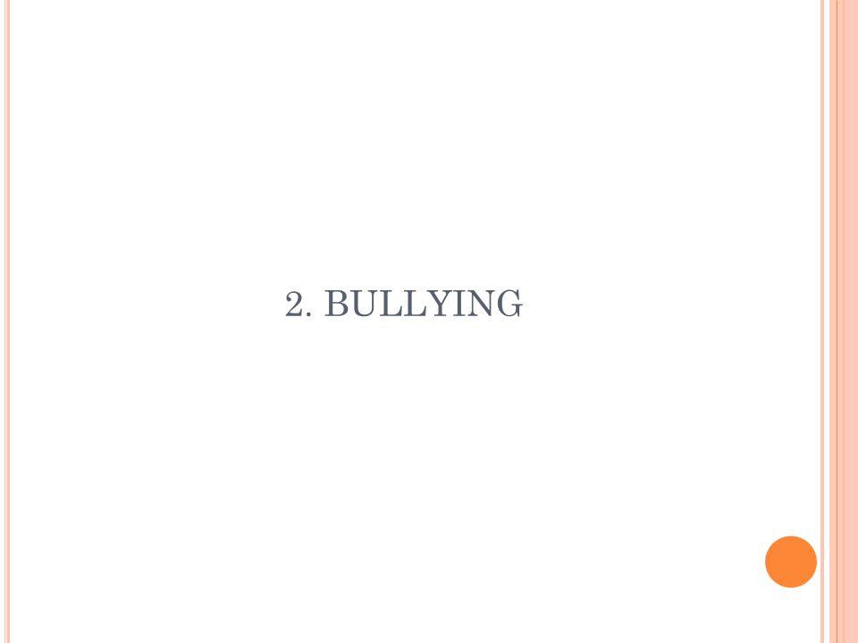 B ULLYING Bullying merupakan tekanan atau intimidasi dari seseorang atau sekelompok orang terhadap orang yang dianggap lebih lemah dari mereka.