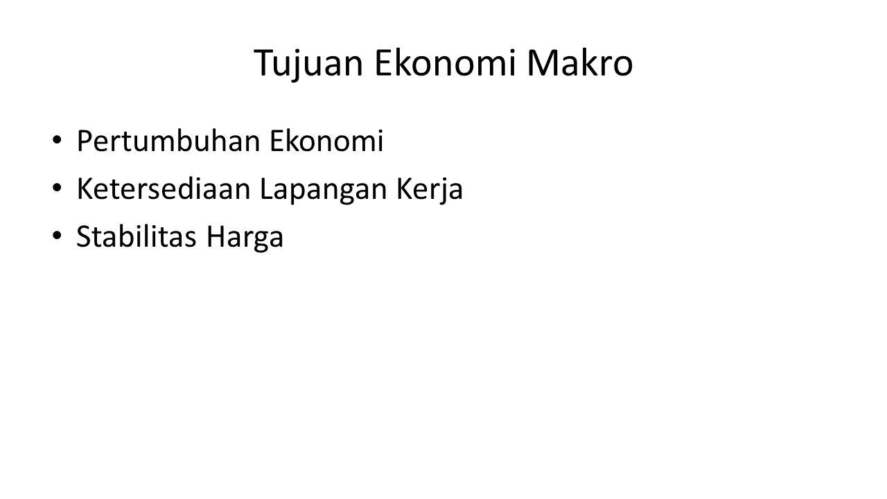 Tujuan Ekonomi Makro Pertumbuhan Ekonomi Ketersediaan Lapangan Kerja Stabilitas Harga