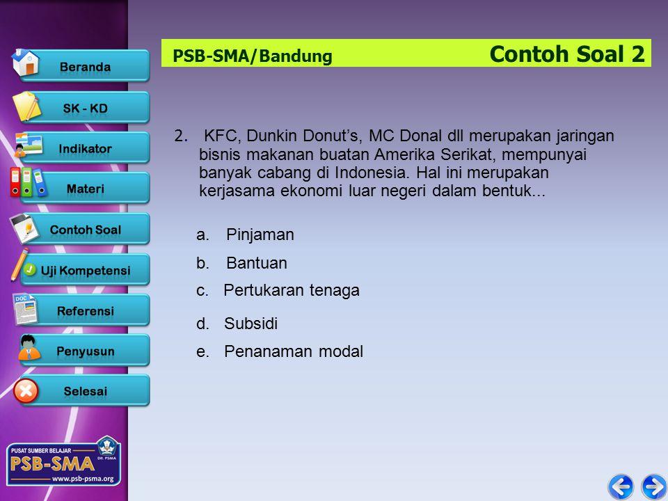 PSB-SMA/Bandung Contoh Soal 2 2.