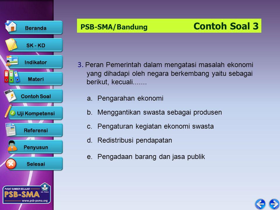 PSB-SMA/Bandung Contoh Soal 3 3.