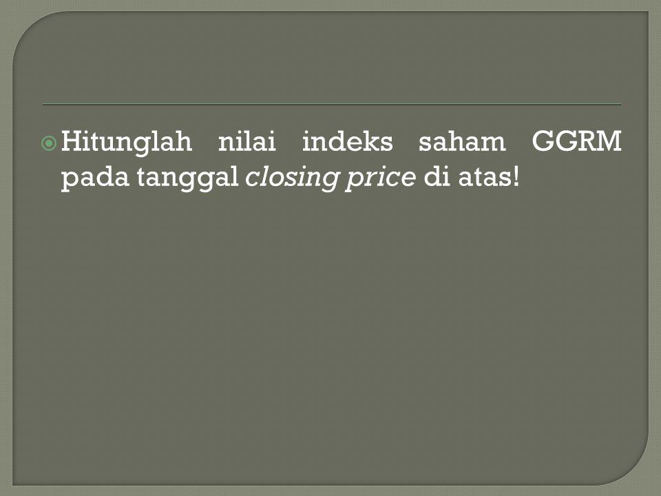  Setiap pihak dapat menciptakan indeks harga saham yang terdiri dari beberapa jenis saham untuk kepentingan sendiri.