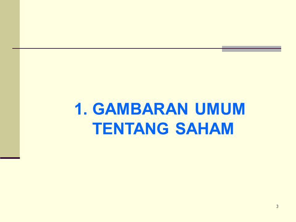 3 1. GAMBARAN UMUM TENTANG SAHAM