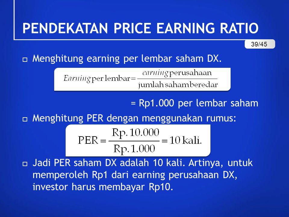  Menghitung earning per lembar saham DX.