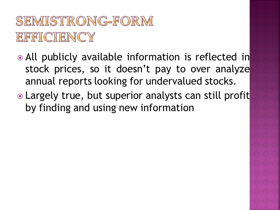  All publicly available information is reflected in stock prices, so it doesn't pay to over analyze annual reports looking for undervalued stocks. 