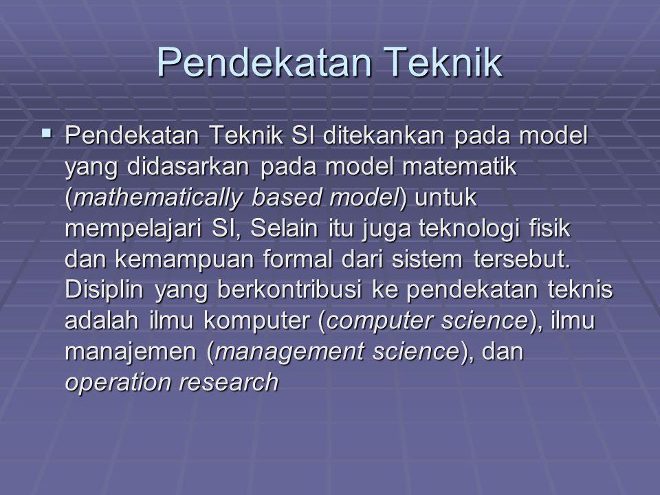 Ilmu Komputer diarahkan pada membangun teori dari perhitungan (theories of computability), metoda untuk berhitung (methods of computation) dan metoda dari penyimpanan dan akses data yang efisien (efficient data storage and access)  Ilmu Manajemen menekankan pada pengembangan model untuk pengambilan keputusan dan praktek manajemen.