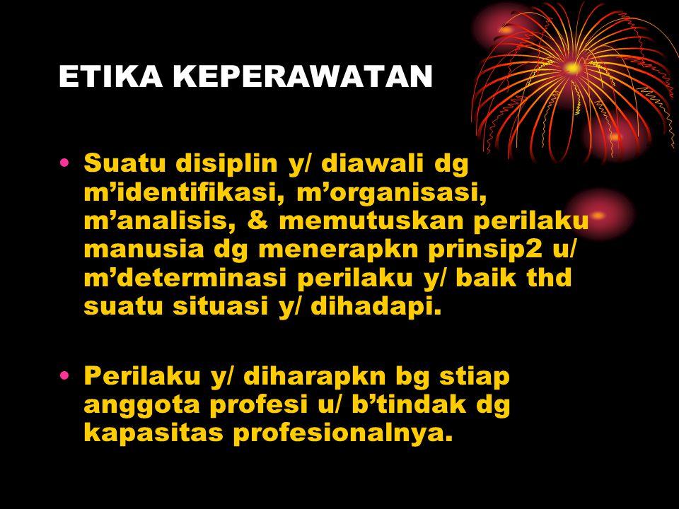 PRINSIP ETIKA DLM PRAKTIK KEPERAWATAN - Otonomi Kebebasan pribadi & hak u/ memilih.