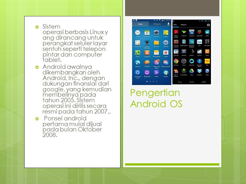  Sistem operasi berbasis Linux y ang dirancang untuk perangkat seluler layar sentuh seperti telepon pintar dan computer tablet.