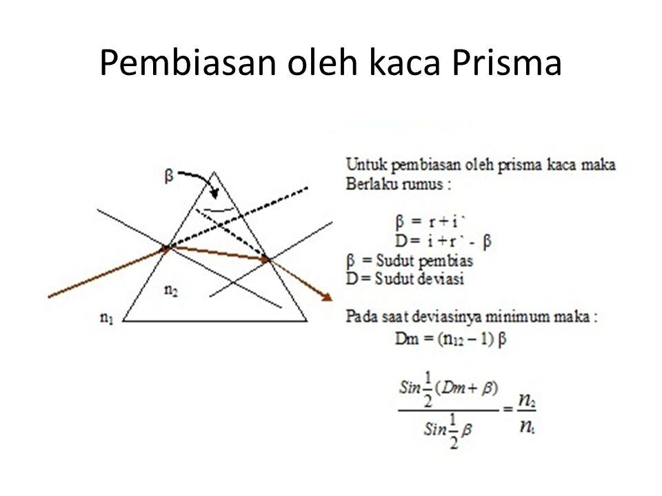 Pembiasan oleh kaca Prisma