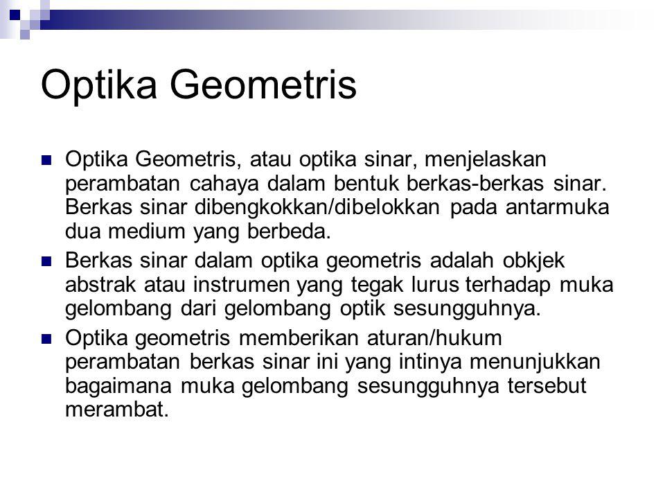 Bahasan dalam Optika Geometris Cermin Lensa Prisma
