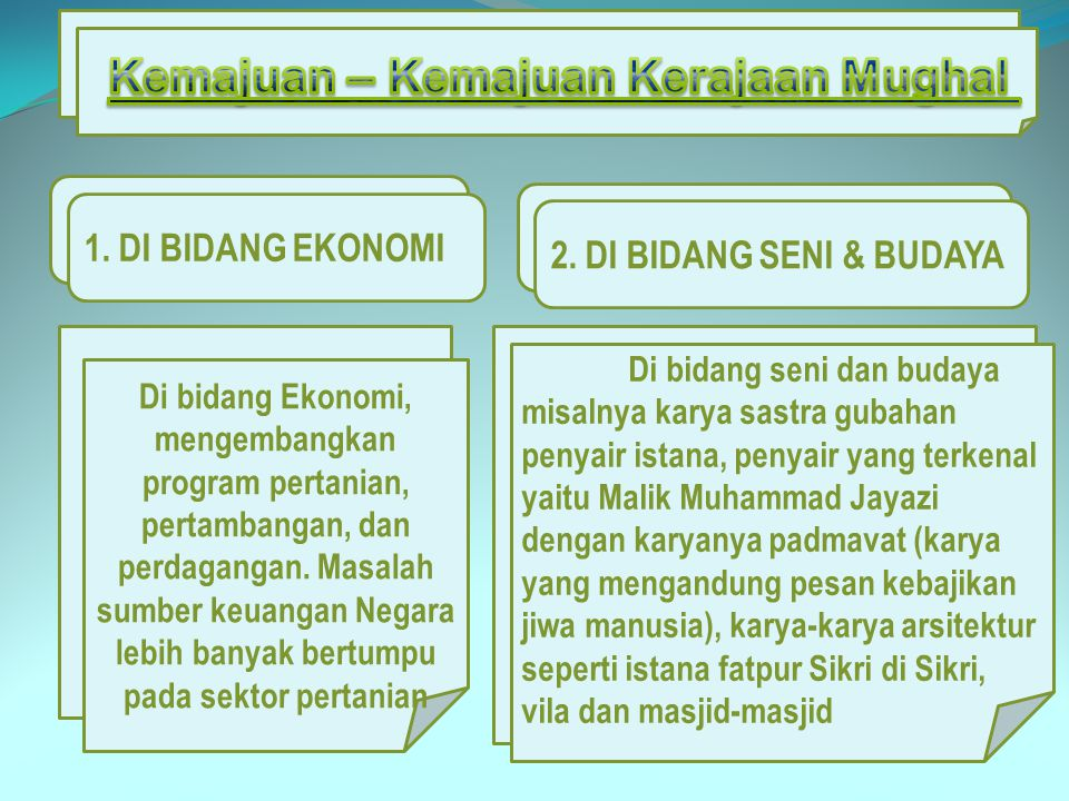 Di bidang Ekonomi, mengembangkan program pertanian, pertambangan, dan perdagangan. Masalah sumber keuangan Negara lebih banyak bertumpu pada sektor pe