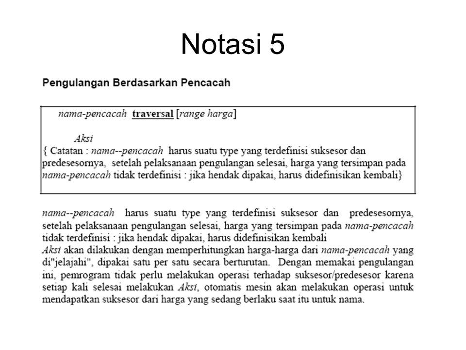 Notasi 5