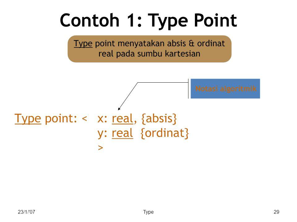 23/1/ 07Type29 Contoh 1: Type Point