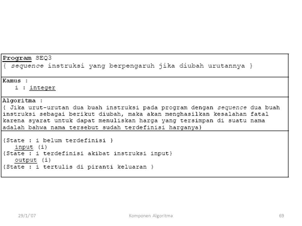 29/1/ 07Komponen Algoritma69