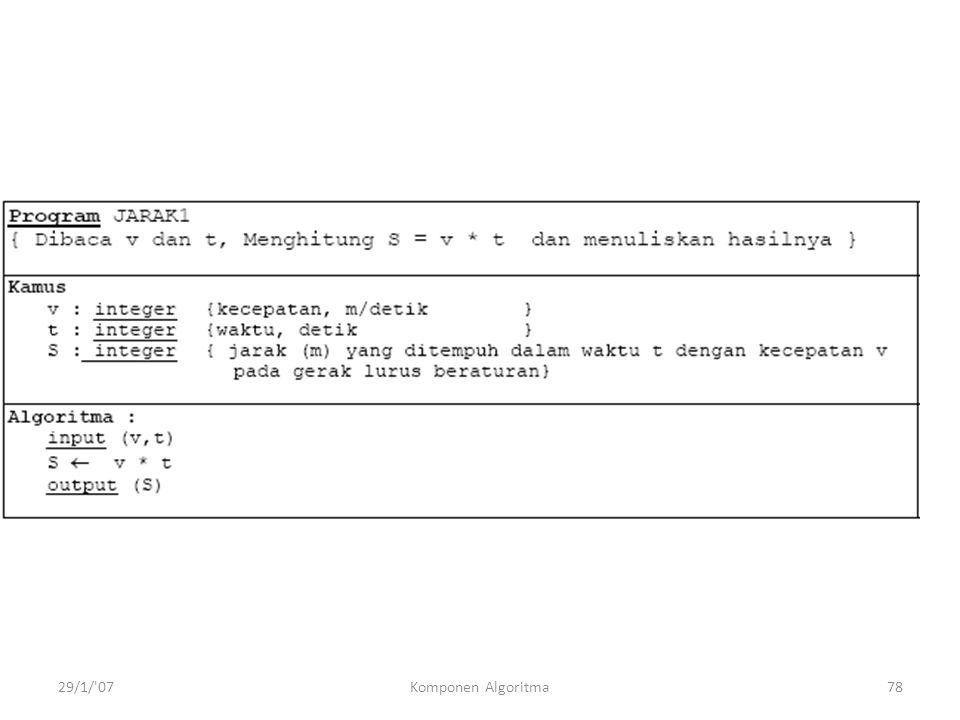 29/1/ 07Komponen Algoritma78