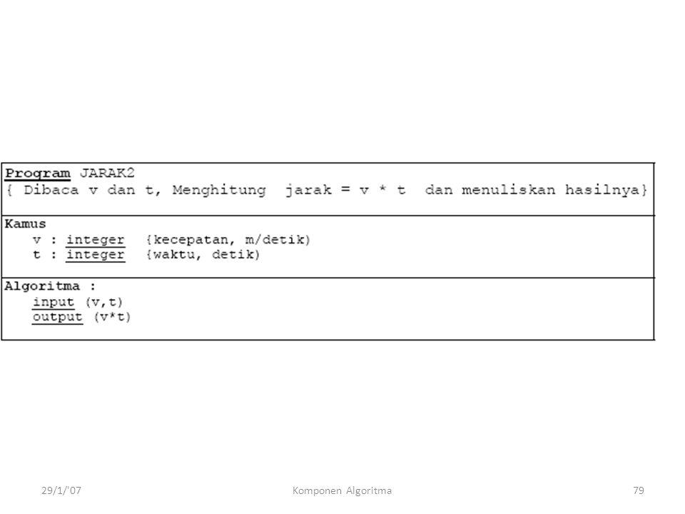 29/1/ 07Komponen Algoritma79
