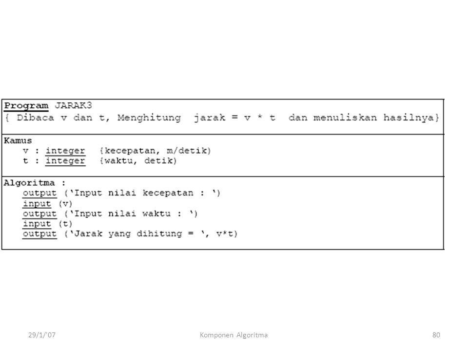 29/1/ 07Komponen Algoritma80