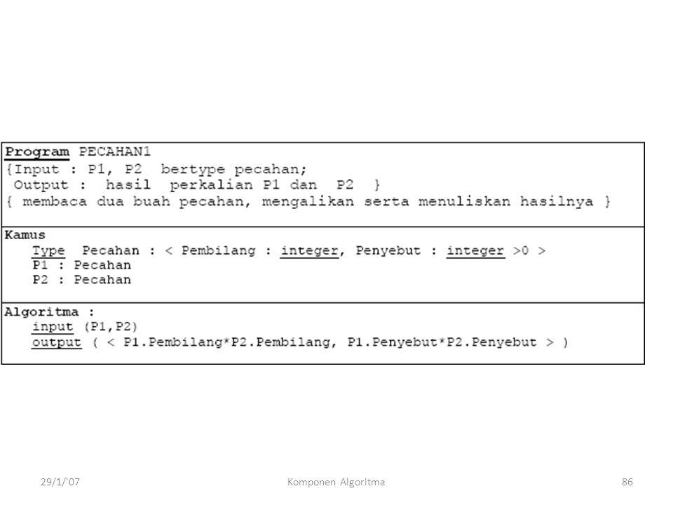 29/1/ 07Komponen Algoritma86