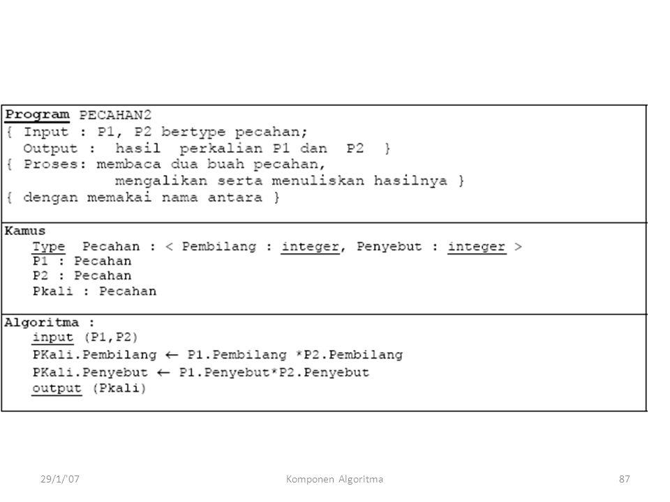 29/1/ 07Komponen Algoritma87