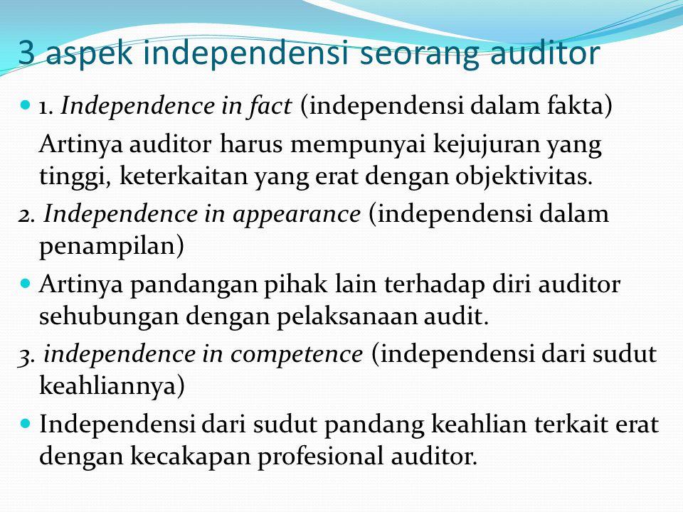 3 aspek independensi seorang auditor 1.