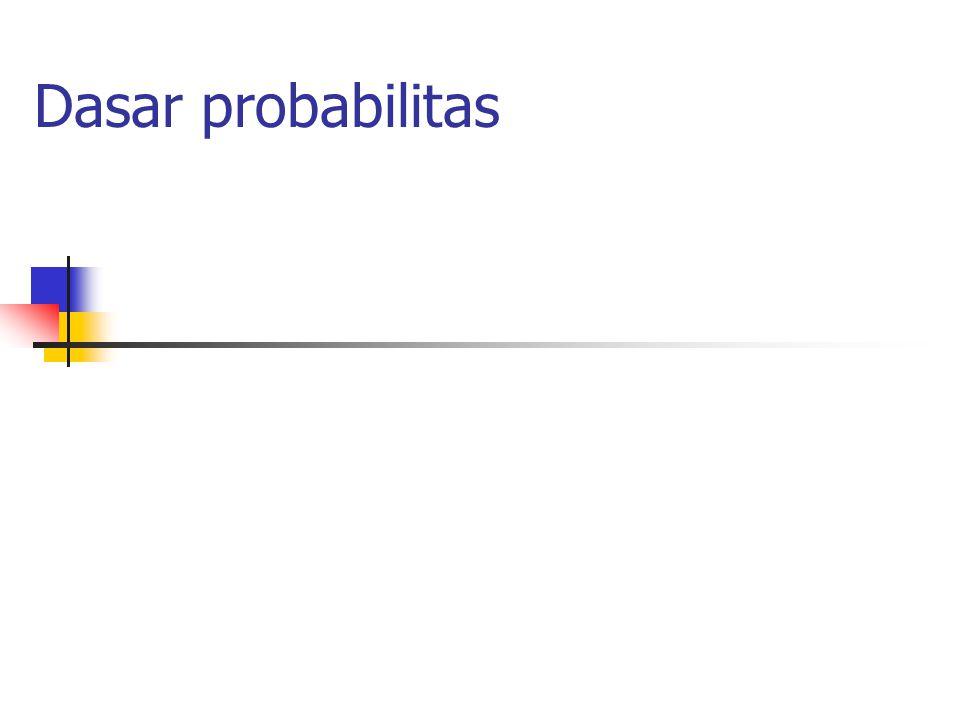 12 Peubah acak (random variables) Definisi : Peubah acak X (yang merupakan bilangan riil [real-valued]) adalah fungsi bernilai riil dan dapat diukur yang didefinisikan pada sample space  ;X:    Setiap titik sample (sample points)  dihubungkan dengan sebuah bilangan riil X(  ) Dapat diukur memiliki arti bahwa semua himpunan yang berbentuk berasal dari kumpulan event , yaitu Peluang event yang seperti itu dinyatakan oleh P{X  x}