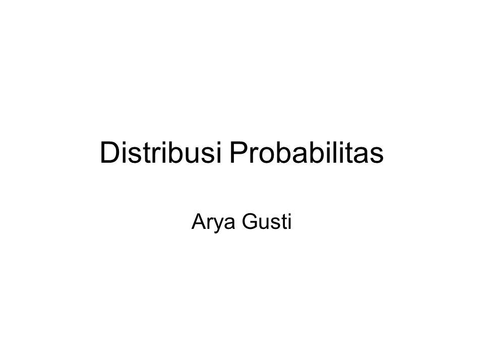 Distribusi Probabilitas Arya Gusti