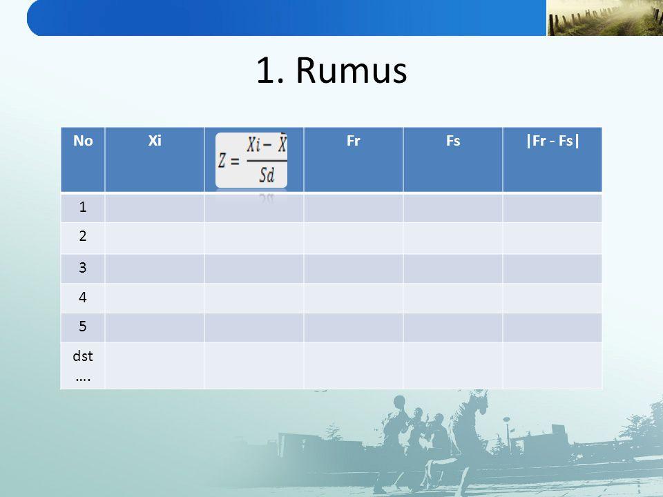 1. Rumus NoXiFrFs|Fr - Fs| 1 2 3 4 5 dst ….