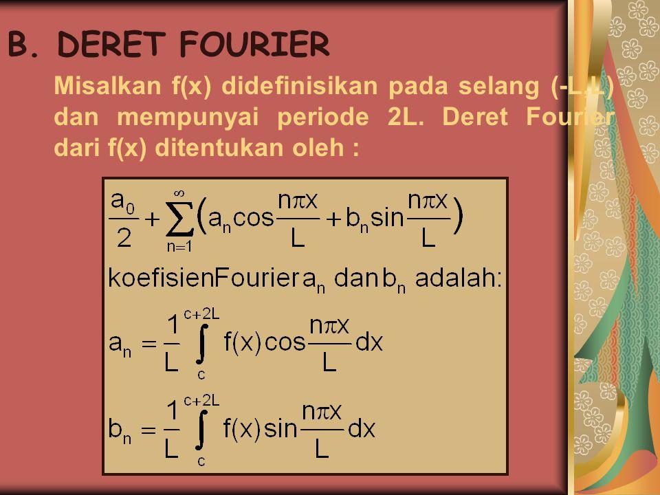 CONTOH SOAL 0 -5<x<0 1).f(x)= periode = 10 3 0<x<5 a.Gambarkan f(x) diatas .