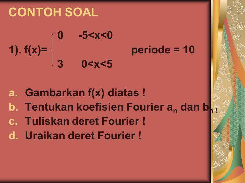 SOLUSI SOAL x f(x) -55 10 -10 3 6 a.