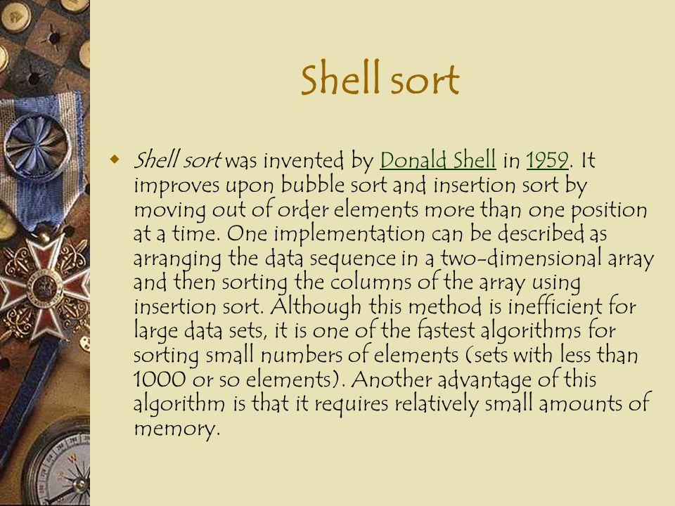 Shell Sort Goto simulation Goto simulation