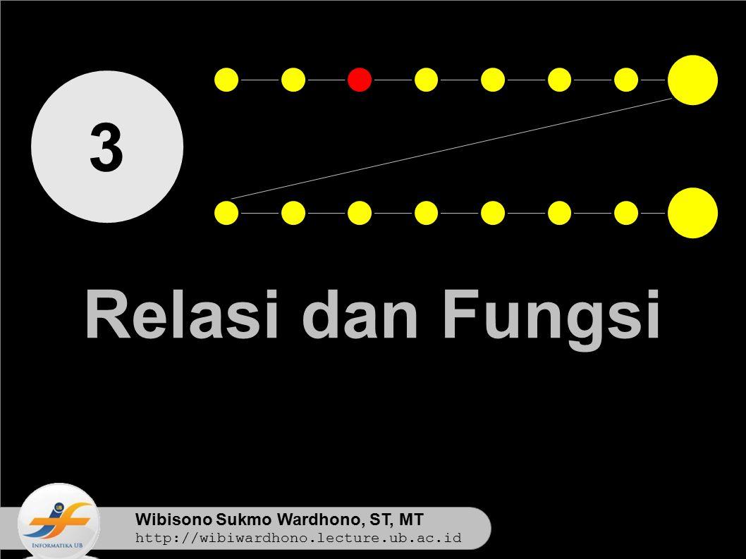 Wibisono Sukmo Wardhono, ST, MT http://wibiwardhono.lecture.ub.ac.id 3 Relasi dan Fungsi