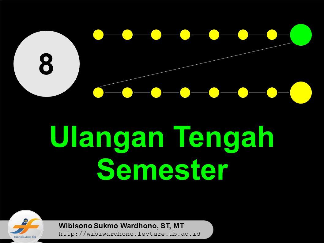Wibisono Sukmo Wardhono, ST, MT http://wibiwardhono.lecture.ub.ac.id 8 Ulangan Tengah Semester