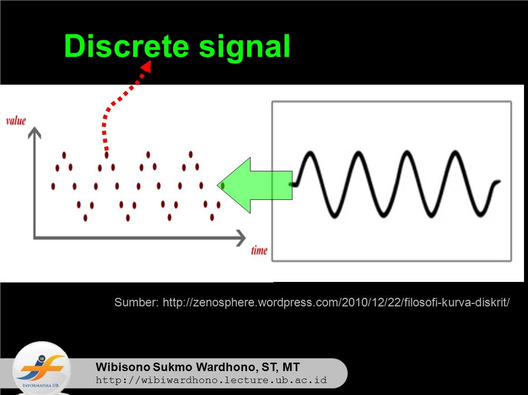 Wibisono Sukmo Wardhono, ST, MT http://wibiwardhono.lecture.ub.ac.id Discrete signal Sumber: http://zenosphere.wordpress.com/2010/12/22/filosofi-kurva-diskrit/