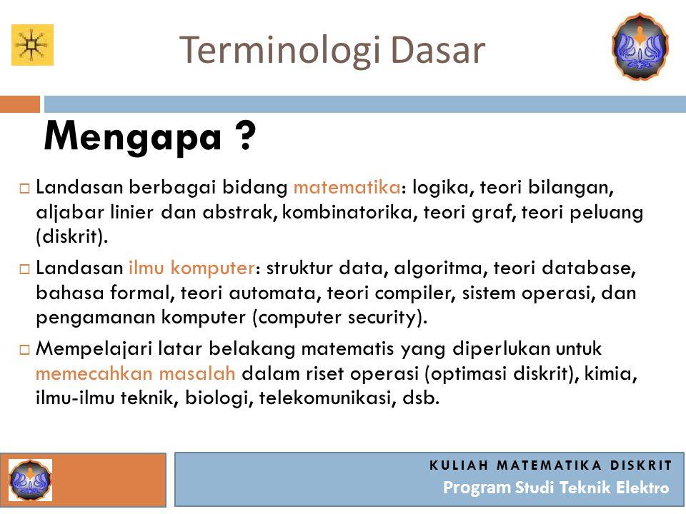 Terminologi Dasar Mengapa .