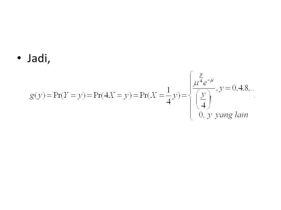 Untuk variabel random diskrit, 2 variabel acak Misalkan f(x1,x2) adalah pdf bersama dari X1 dan X2, dengan A ={(x1,x2)|f(x1,x2)>0}.