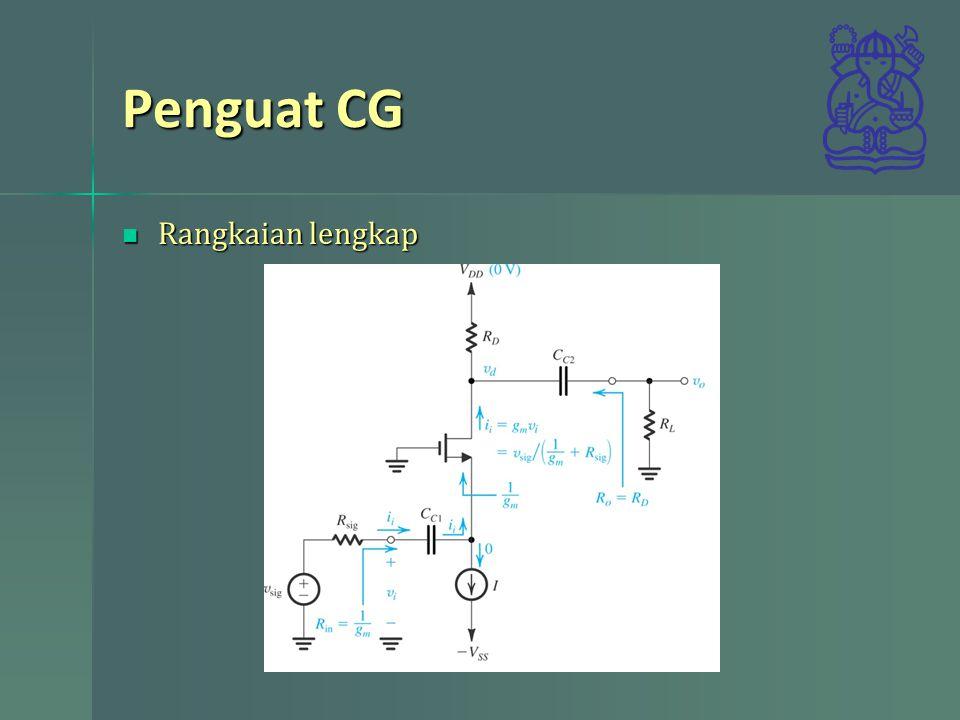 Penguat CG Rangkaian lengkap Rangkaian lengkap