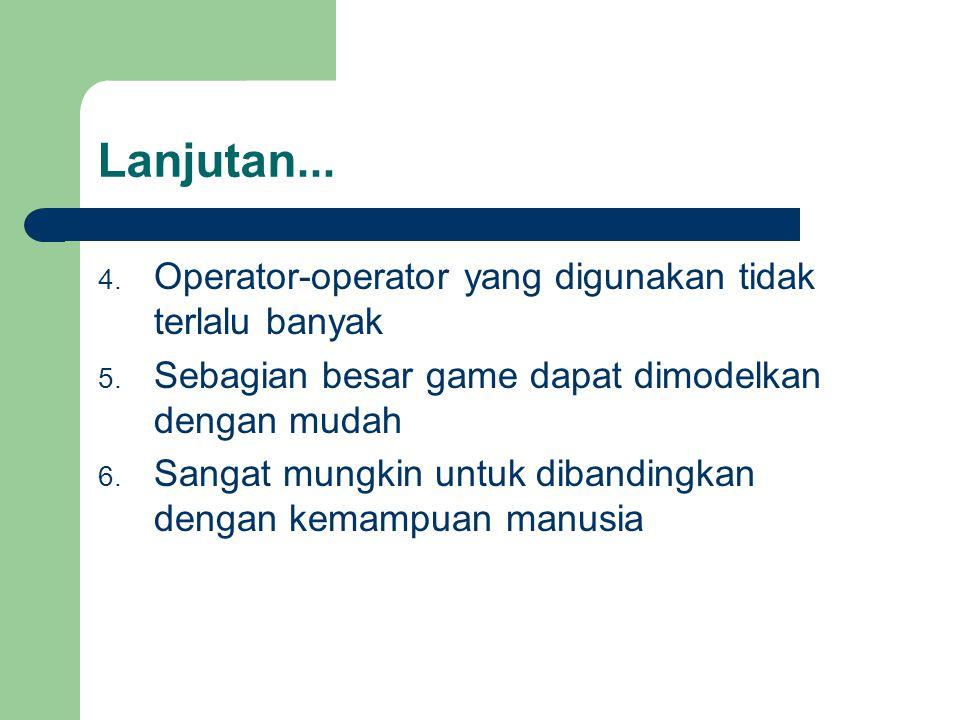 Lanjutan... 4. Operator-operator yang digunakan tidak terlalu banyak 5.
