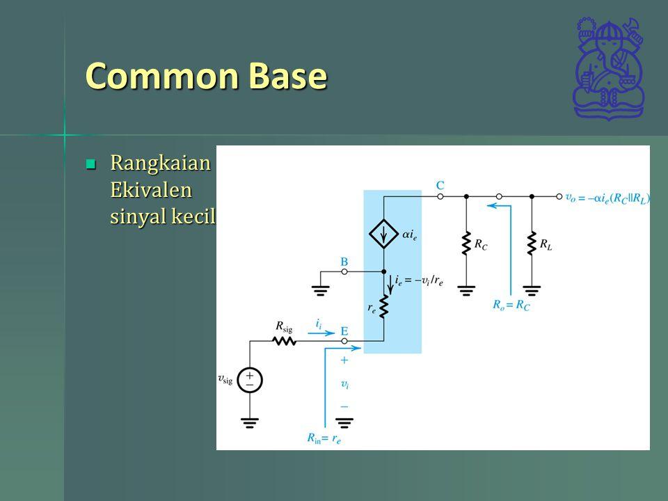 Common Base Rangkaian Ekivalen sinyal kecil Rangkaian Ekivalen sinyal kecil