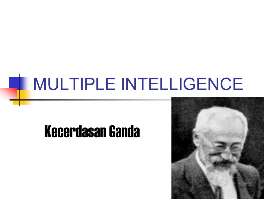 MULTIPLE INTELLIGENCE Kecerdasan Ganda